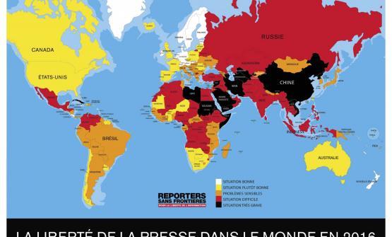 rsf publie son classement mondial de la libert u00e9 de la