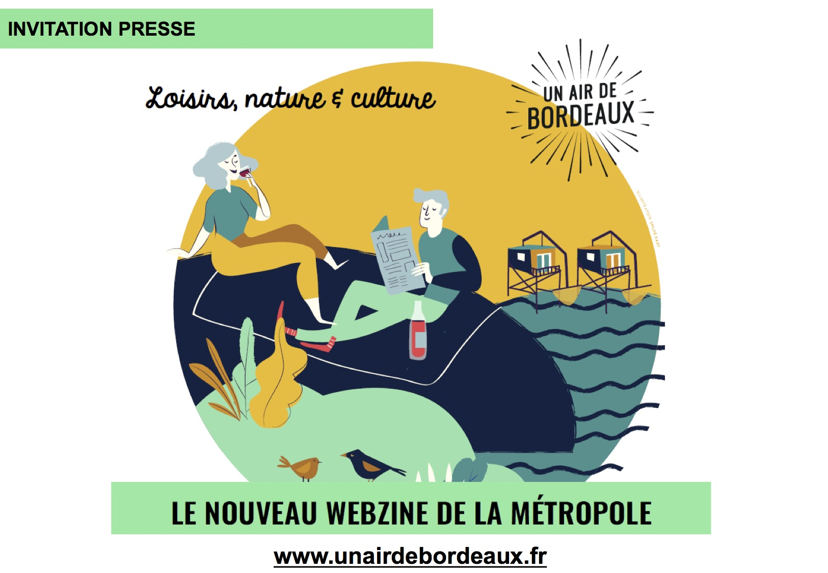 nvitation presse : lancement webzine 'Un Air de Bordeaux'