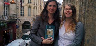 Deux des membres du collectif, Ariane Puccini et Cécile Andzjeweski  (à droite), ont enquêté sur les mécanismes de l'impunité. Photo club de la presse de Bordeaux.
