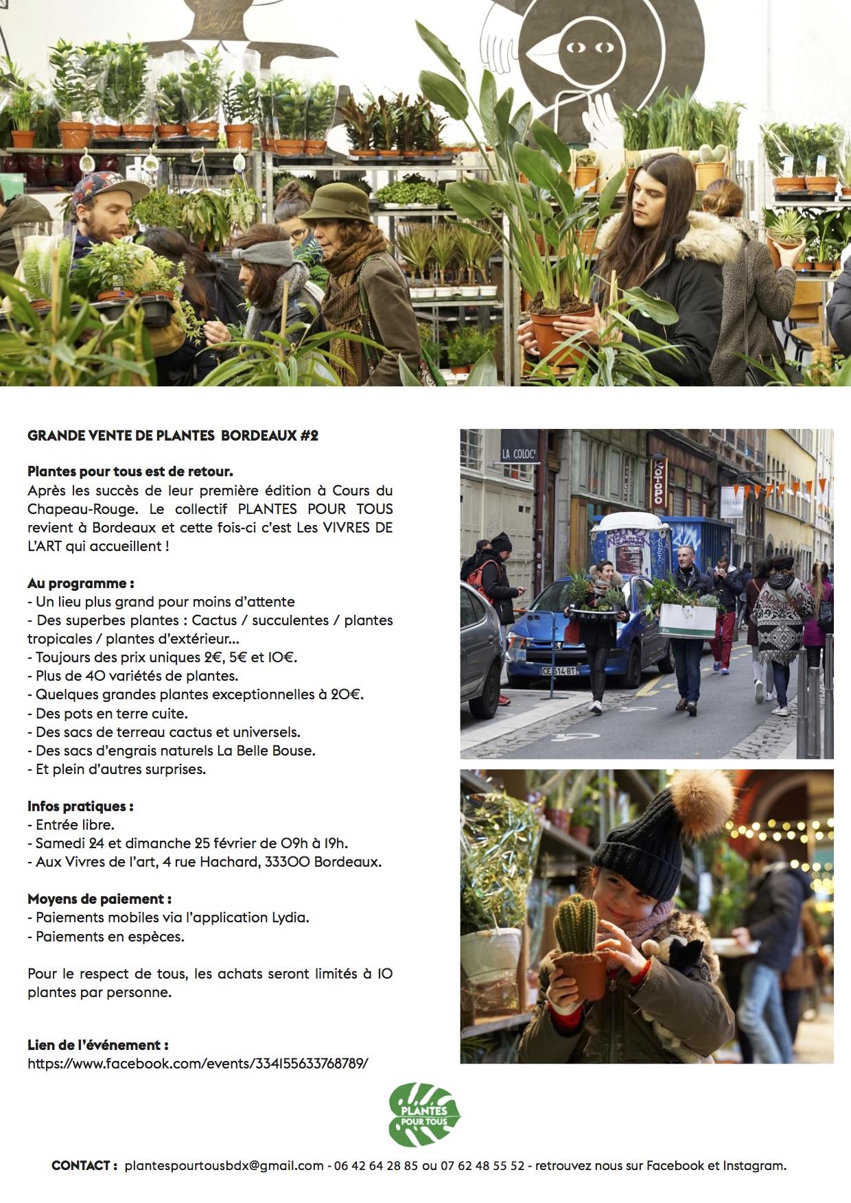 Plantes pour tous bordeaux 2 24 25 02 club presse for Plante pour tous