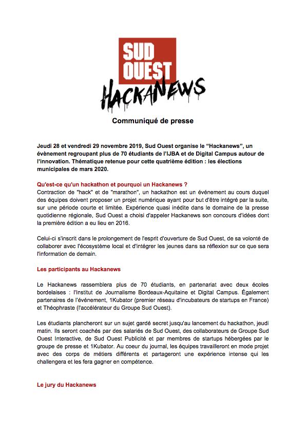 CP SUD OUEST Hackanews 28 et 29 nov 2019_Partie1