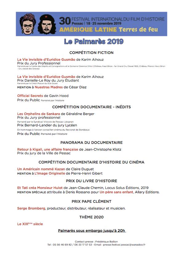 Palmares2019