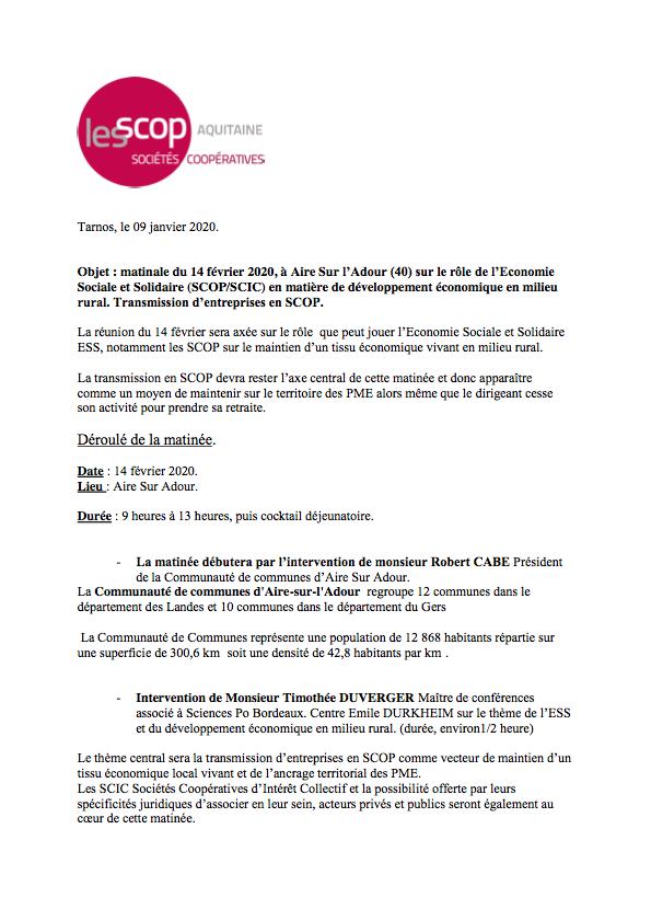 AIRE SUR ADOUR 14 FEVRIER NOTE CLUB DE LA PRESSE_Partie1