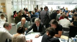 Lors du dépouillement des votes à l'issue des élections à  la Commission de la carte de presse qui déterminent les représentants du colège journalistes aux commissions de la CCIJP et les correspondants régionaux. (Photo R.H)