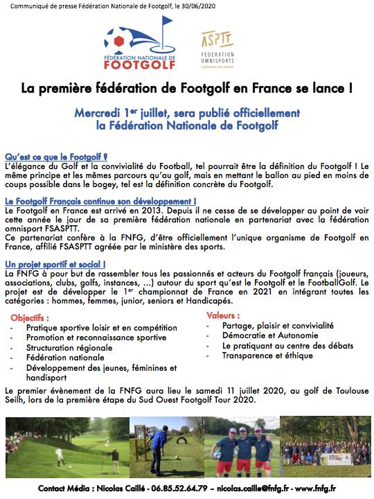 Communiqué de presse - FNFG 2020
