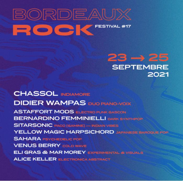 affiche du festival Bordeaux Rock