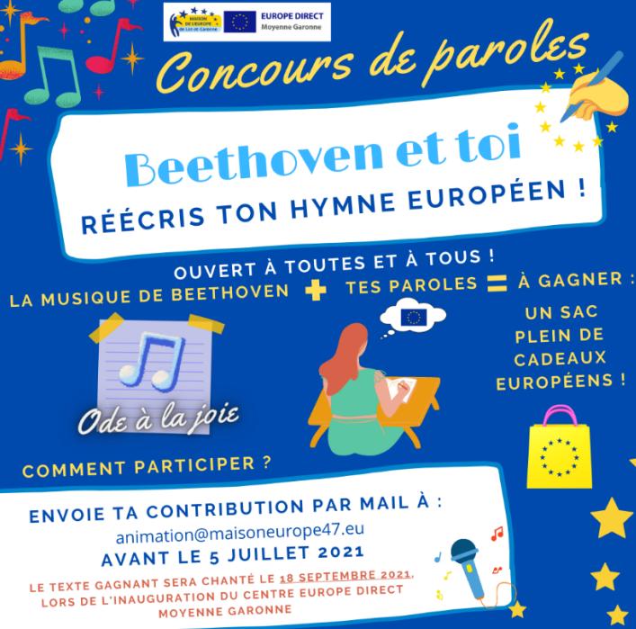 Affiche du concours hymne européen