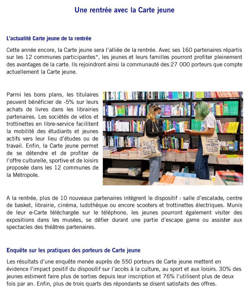 CP carte Jeune BDX